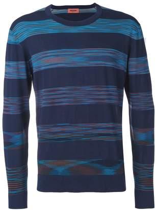 Missoni striped crew neck sweatshirt