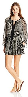 Juicy Couture Black Label Women's Trade Winds Patchwork Romper $87.22 thestylecure.com