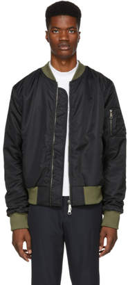 Pyer Moss Black American Military Bomber Jacket