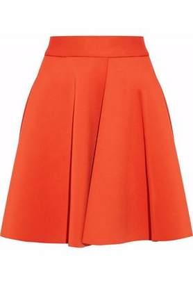 MSGM Pleated Stretch-Ponte Mini Skirt