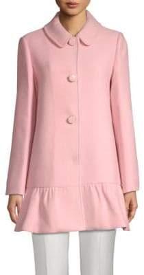 Kate Spade Flounce Spread Collar Coat