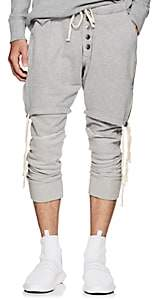 Greg Lauren Men's Layered Cotton Lounge Pants-Gray