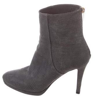 Jimmy Choo Embossed Suede Ankle Boots