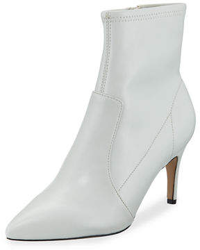 Neiman Marcus Post Leather Pointed Booties