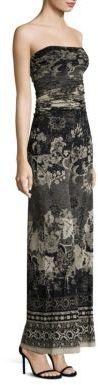 Fuzzi Batik Floral Strapless Jumpsuit $595 thestylecure.com