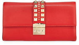 Mario Valentino Valentino By Cocotte Palmellato Leather Clutch/Crossbody Bag