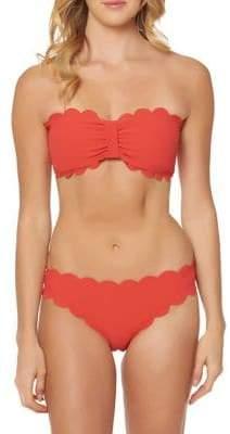 Jessica Simpson Gathered Front Bandeau Bikini Top