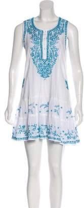 Juliet Dunn Mini Embroidered Dress