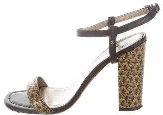 Lanvin Floral Patterned Block Heel Sandals cheap sale recommend footaction cheap price discount high quality top quality online di7MlAxvV