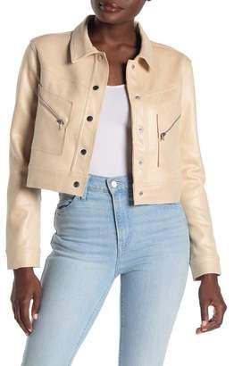 SKYLAR ROSE Sparkly Ponte Snap Jacket