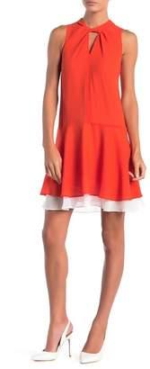 Cynthia Steffe CeCe by Estella Twist Neck Sleeveless Dress