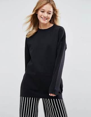 Asos Design Oversized Sweater With Crew Neck In Structured Yarn