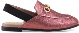 Gucci Toddler Princetown glitter slipper