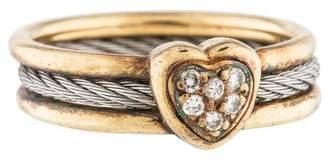 Charriol Two-Tone Diamond Heart Ring
