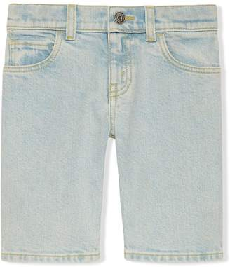 Gucci Kids Children's denim bermuda short