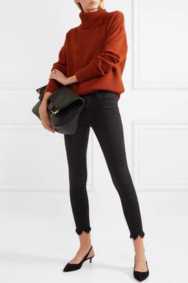 Frame Le High Skinny Frayed Jeans - Dark gray