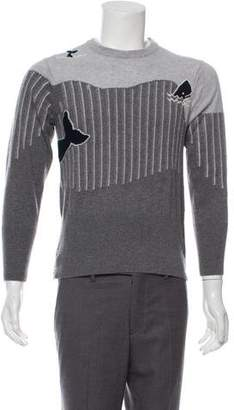 Thom Browne Woven Crew Neck Sweater