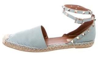 Valentino Rockstud Ankle-Strap Espadrilles