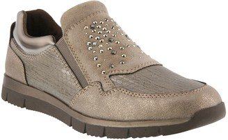 Spring Step Slip-On Rhinestone Shoes - Hollywood