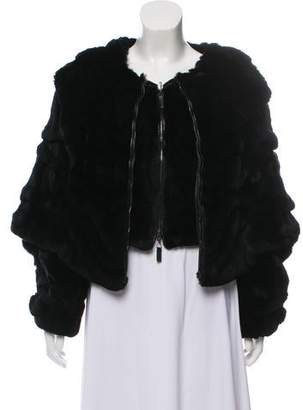 Giorgio Armani Rex Rabbit Fur Jacket