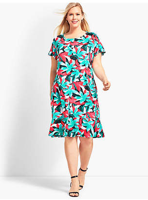 Talbots Botanical Jersey Shift Dress