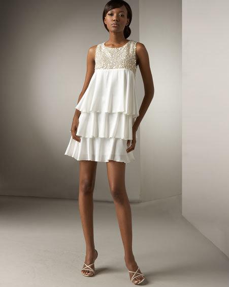 Bianca Nero Tiered Silk Dress
