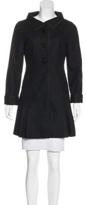 Miu Miu Wool Embroidered Coat