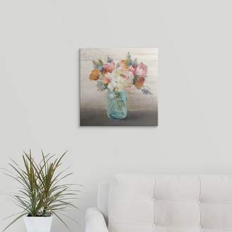Great Big Canvas 'French Cottage Bouquet II' Danhui Nai Graphic Art Print Format: Black Frame,
