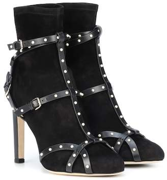 Jimmy Choo Brianna 100 suede ankle boots