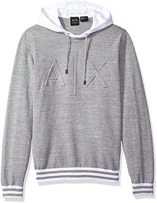Armani Exchange A|X Men's Logo Hoodie Sweater Knit