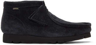 Clarks Navy Beams Edition Wallabee BT GTX Boots