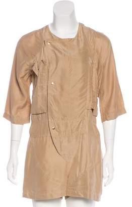 Markus Lupfer Silk Short Sleeve Romper