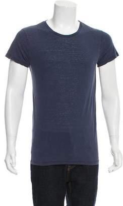 Balmain Raw Silk Crew Neck T-Shirt