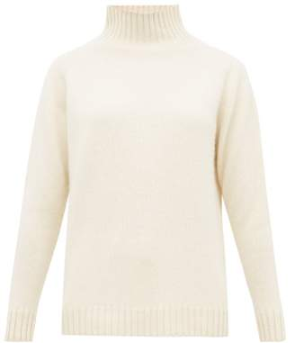 The Elder Statesman Highland High Neck Cashmere Sweater - Womens - Ivory