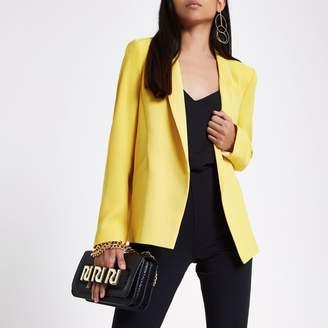 River Island Womens Petite Yellow long sleeve blazer