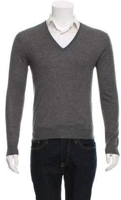 Prada Cashmere & Silk V-Neck Sweater