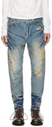 Julius Indigo Distressed Jeans