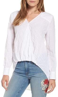 Caslon Faux Wrap Cotton Top