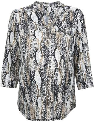 Dorothy Perkins Womens **Maternity Snake Print Button Ity Shirt