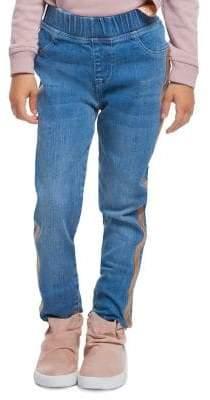 Dex Little Girl's Side Striped Jeans