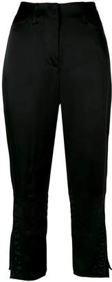 Fendi cropped embroidered trousers