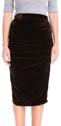 AOMEI DRESS Women Sexy Skirt Velvet Pleated Pencil Skirts for Autumn Color Size M