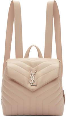 Saint Laurent Pink Small Monogram Loulou Backpack