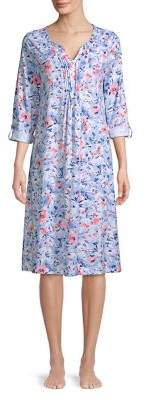 Carole Hochman Pintucked Floral Nightgown