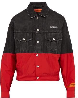 Heron Preston Denim And Technical Shell Jacket - Mens - Black Red