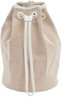 Hermes Vintage Beige Cloth Backpacks