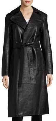 Robert Rodriguez Leather Trench Coat, Black $1,795 thestylecure.com