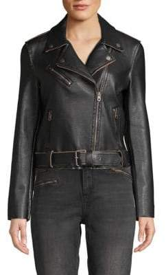 Vigoss Faux Leather Moto Jacket