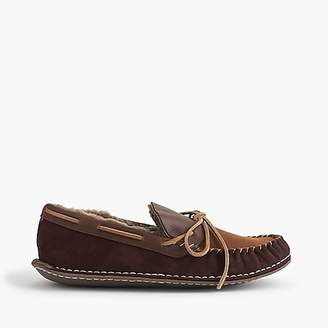 J.Crew Shearling-lined suede slippers