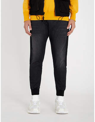 Replay Sports Lab stretch-denim jogging bottoms